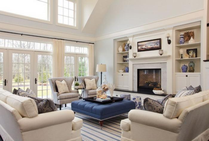 un-canape-convertible-fauteuills-coussinets-tapis-lampe-salle-de-séjour-canapé-confort