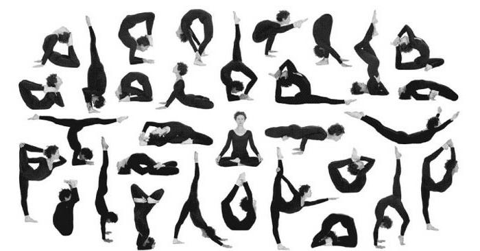 une-exercice-yoga-posture-de-yoga-professionnel-différent-positions