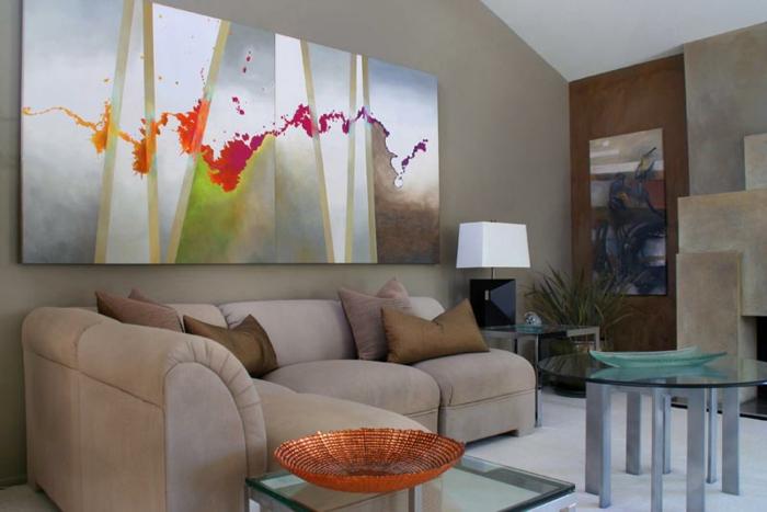 une-idée-peinture-salon-salle-à-manger-amenagement-salon-art