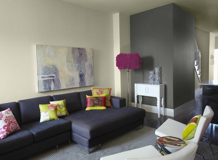 une-idée-peinture-salon-salle-à-manger-amenagement-salon-gris-et-violet