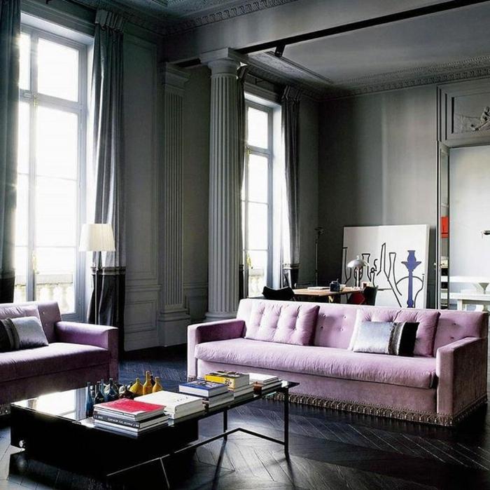 violet-clair-chambre-mauve-décoration-originale-canapé