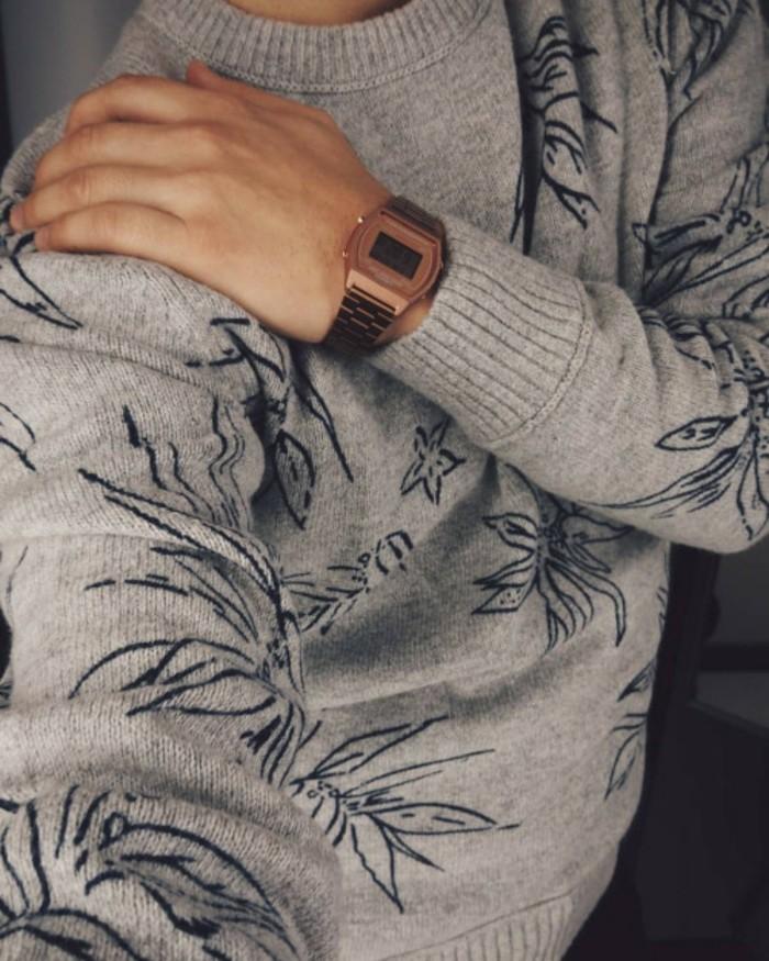 À-la-mode-montre-rose-doré-montre-rose-gold-électrique-rétro-montre-vintage