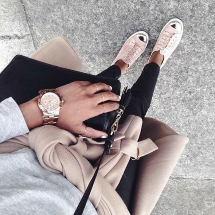 À-la-mode-montre-rose-doré-montre-rose-gold-cool-tendance