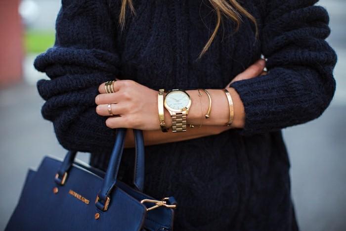 À-la-mode-montre-rose-doré-montre-rose-gold-mignone-tenue