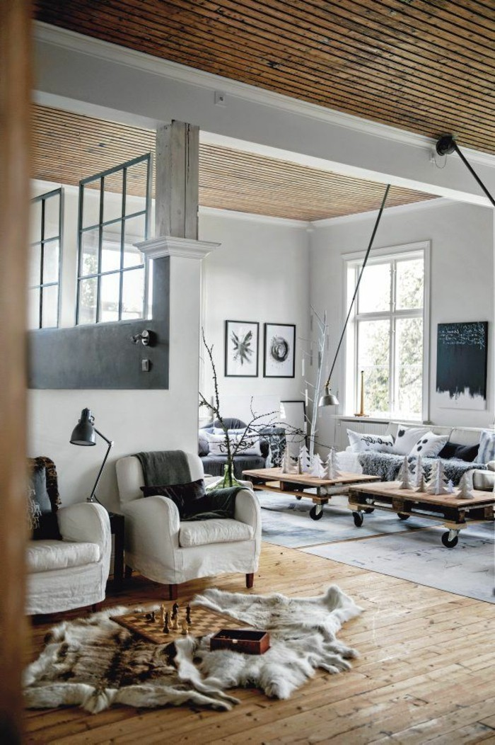 Comment cr er une ambiance scandinave 45 id es en photos for Salon industriel cosy