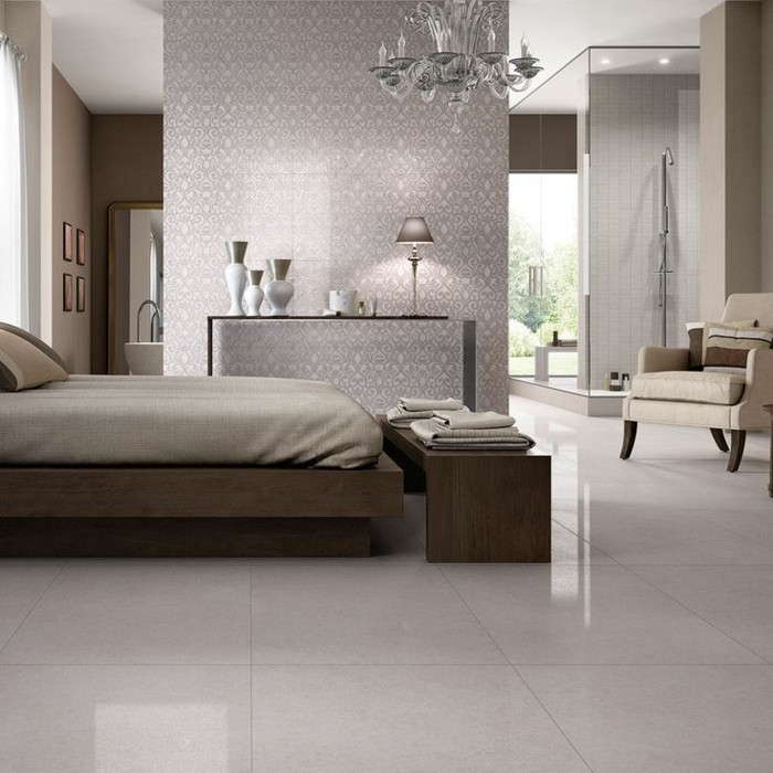 41 photos qui vont vous pr senter le carrelage brillant for Carrelage chambre