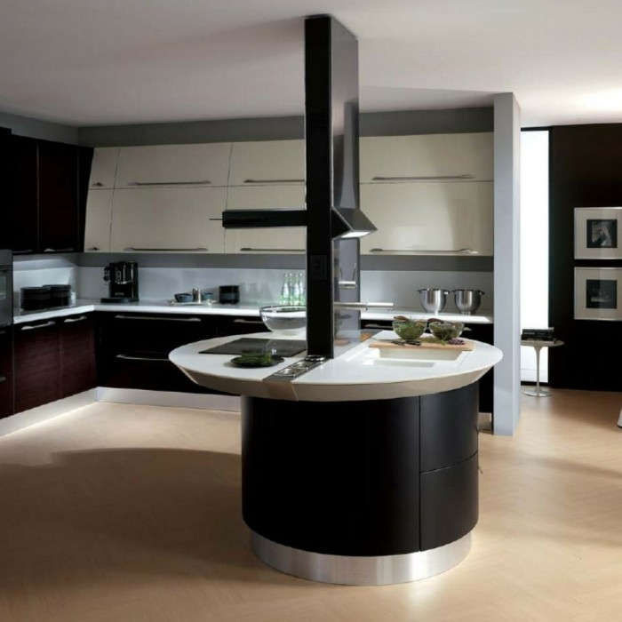 la cuisine arrondie dans 41 photos pleines d 39 id es. Black Bedroom Furniture Sets. Home Design Ideas