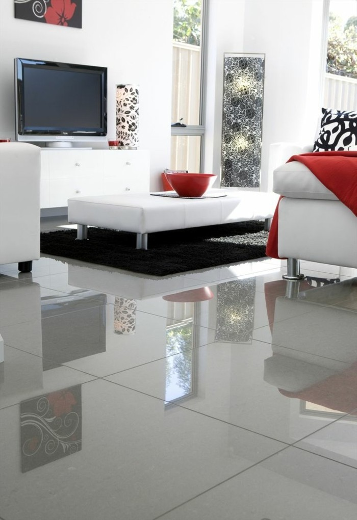 41 photos qui vont vous pr senter le carrelage brillant for Carrelage poli brillant gris