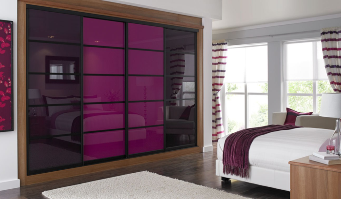 Les portes de placard on vous donne 45 id es en photos for Chambre couleur violet