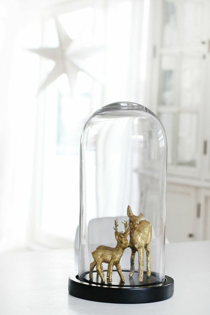 0-jolie-decoration-cloche-à-gateau-en-verre-deco-de-noel-pas-cher-deco-en-or-animaux-decoration