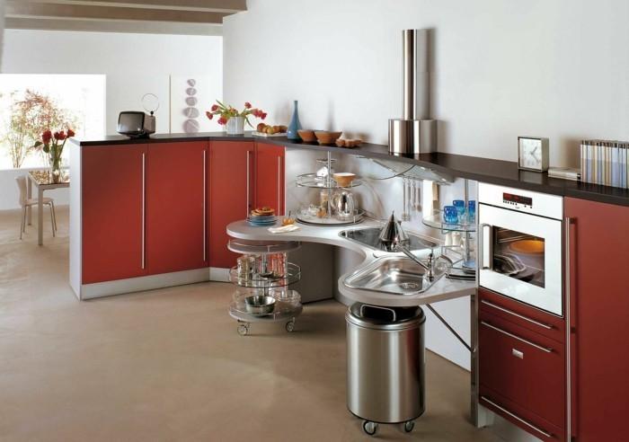 La cuisine arrondie dans 41 photos pleines d 39 id es - Synonyme plan de travail ...