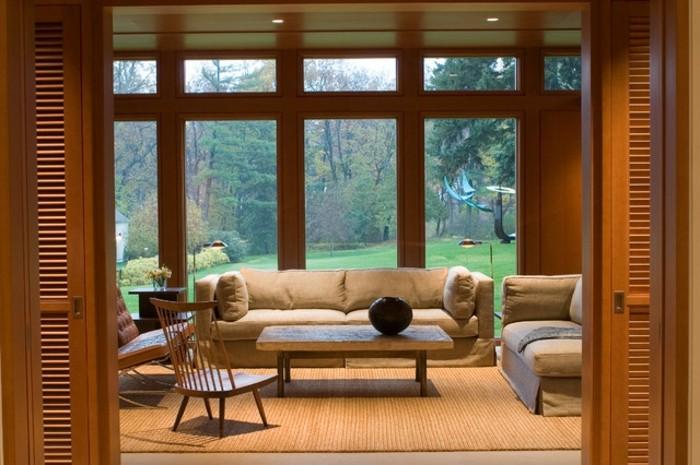0-jolies-porte-persienne-en-bois-foncé-vers-le-salon-moderne-comment-choisir-les-portes-persiennes