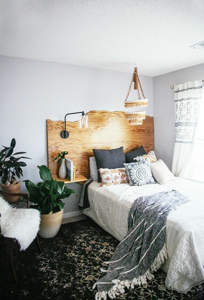 0-originale-chambre-a-coucher-avec-tête-de-lit-originale-en-bois-clair-murs-gris