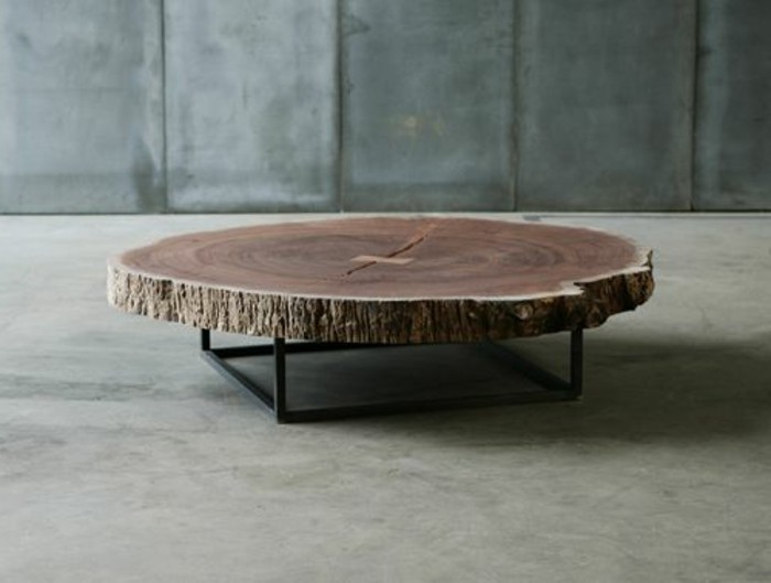 La table basse design en mille et une photos avec beaucoup for Table salon bois brut
