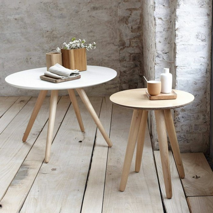 La table basse design en mille et une photos avec beaucoup for Tables basses rondes en bois