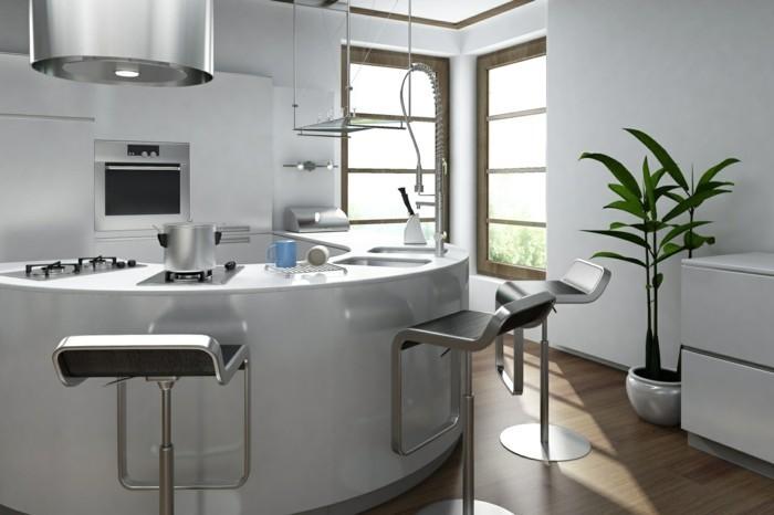 La cuisine arrondie dans 41 photos pleines d 39 id es - Meuble cuisine arrondi ...