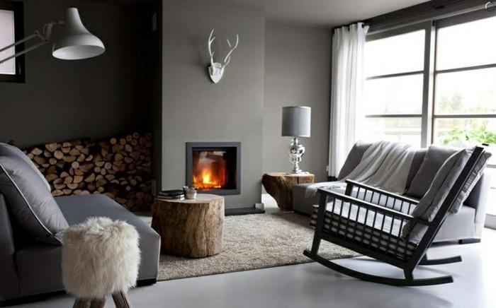 1-idee-deco-salon-ambiance-zen-chambre-adulte-zen-fauteuil-gris-cheminée-d-intérieur