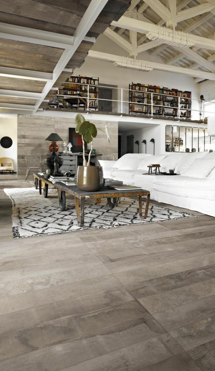 1-joli-meuble-style-industriel-pas-cher-pour-loft-et-associé-canape-blanc-tapis-beige-et-noir-table-basse-de-style-industriel