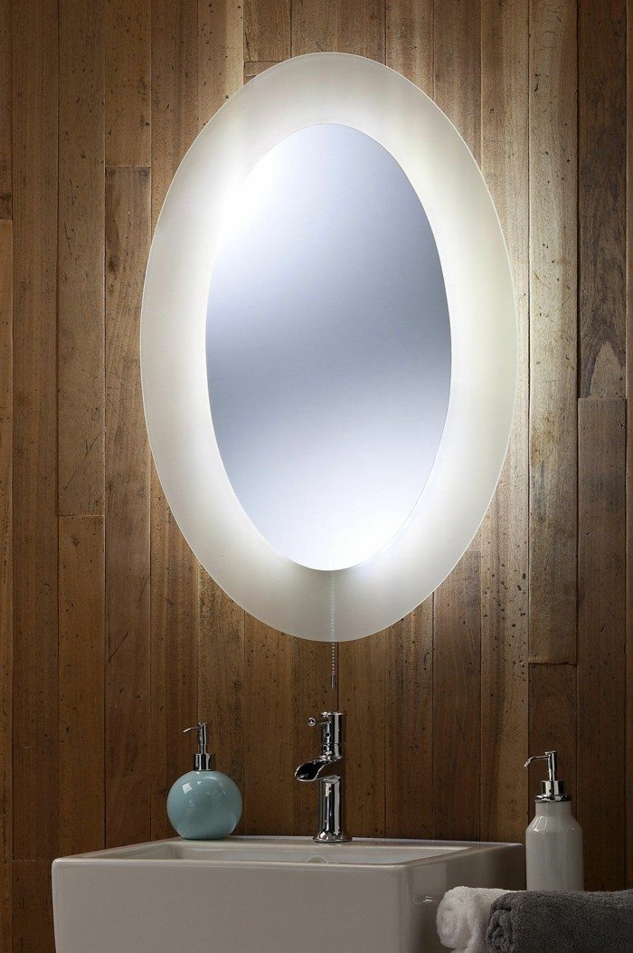Mille et une id es pour choisir le meilleur miroir lumineux - Miroir castorama salle de bain ...