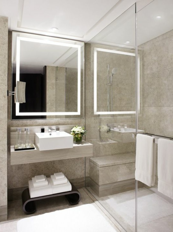 Mille et une id es pour choisir le meilleur miroir lumineux - Quel couleur pour une salle de bain ...