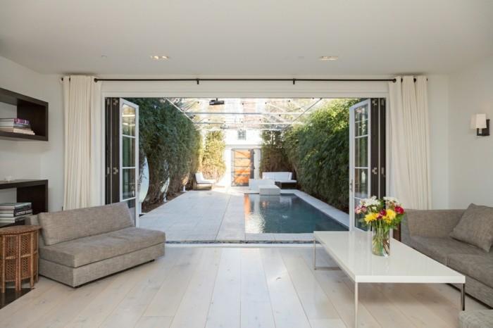 Les portes pliantes design en 44 photos - Leroy merlin porte en verre ...