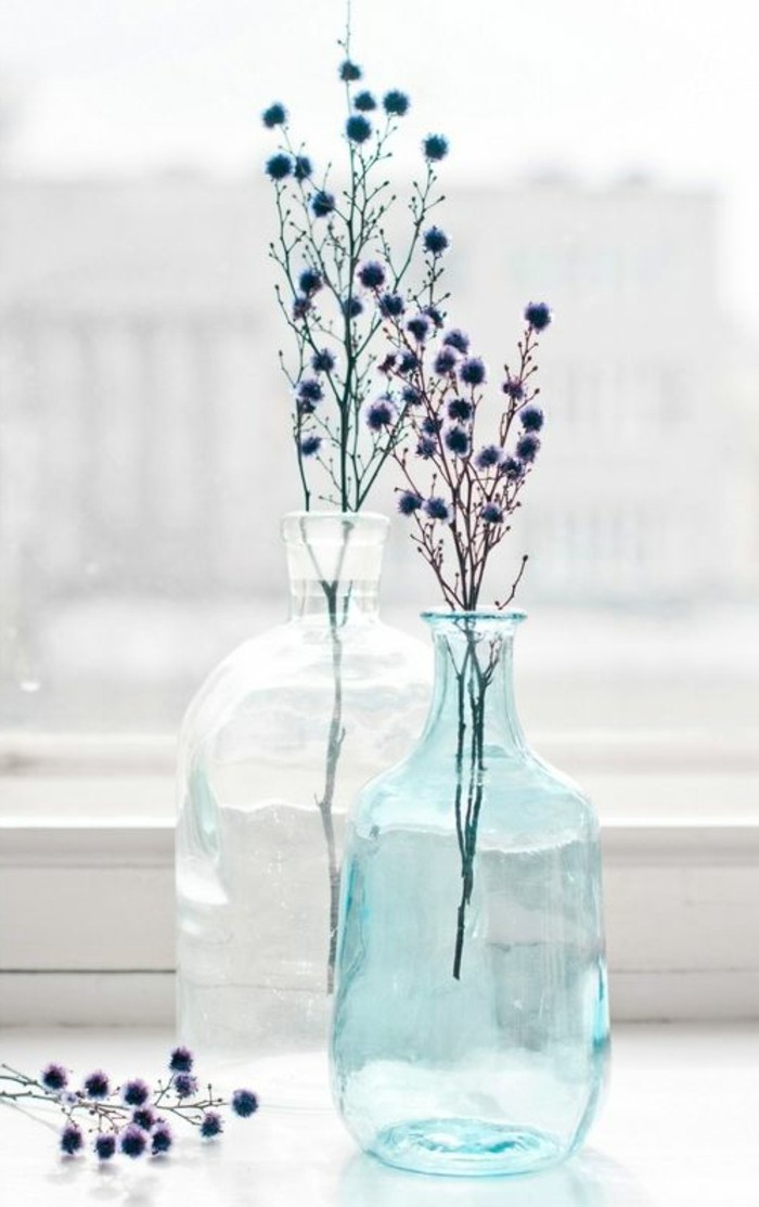 Le grand vase en verre dans 46 belles photos for Decoration pour