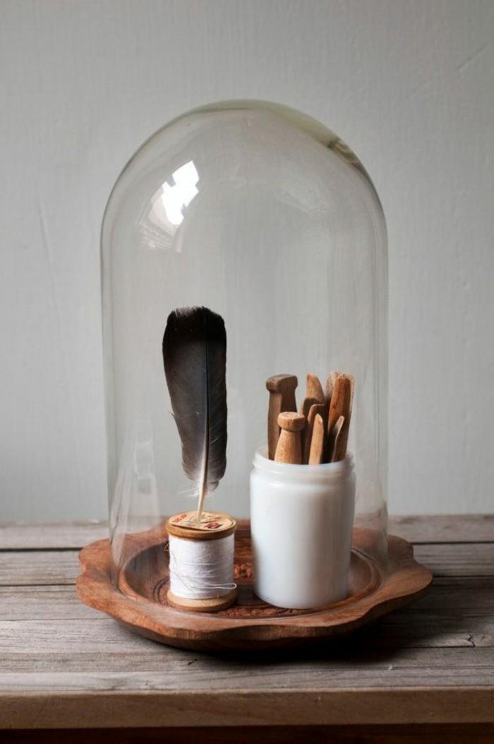 1-jolie-decoration-avec-globe-verre-cloche-à-gateau-en-verre-clocher-en-verre-transparente