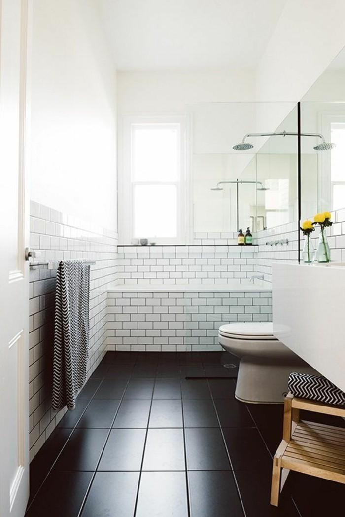 La salle de bain noir et blanc les derni res tendances for Salle de bain sol 3d