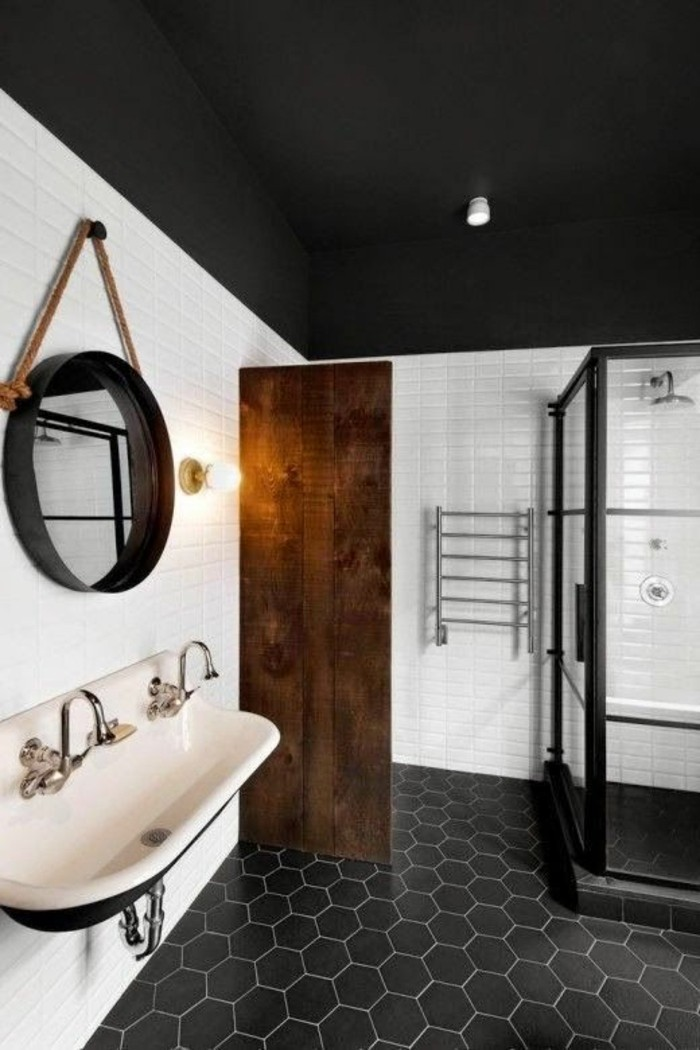 Beautiful Point Noir Plafond Salle De Bain Contemporary - lalawgroup ...