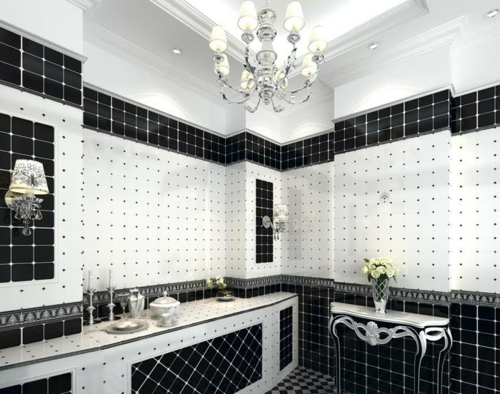 plafond salle de bain noir et blanc chaios com - Carrelage Italien Salle De Bain