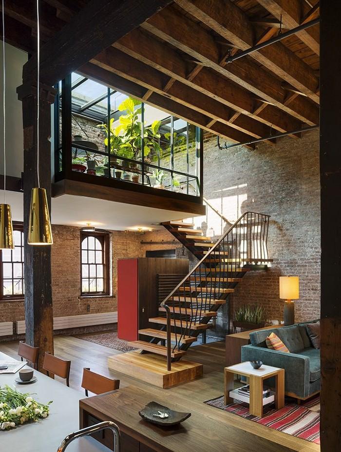 1-meuble-style-industriel-pas-cher-pour-loft-et-associé-sol-en-parquet-clair-lampes-de-salon