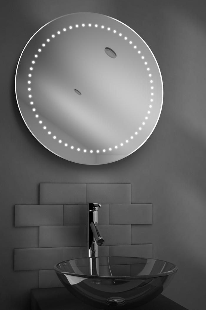 1-miroir-éclairant-salle-de-bain-miroir-leroy-merlin-rond-mur-gris-dans-la-salle-de-bain-grise