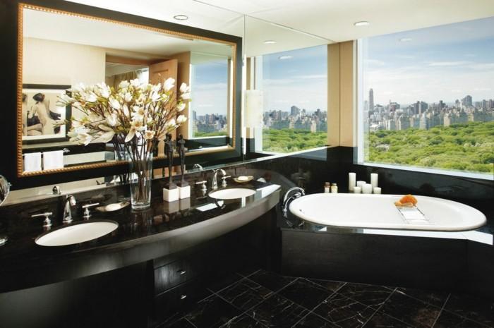 Belles id es avec la baignoire design - Salle de bain loft new yorkais ...