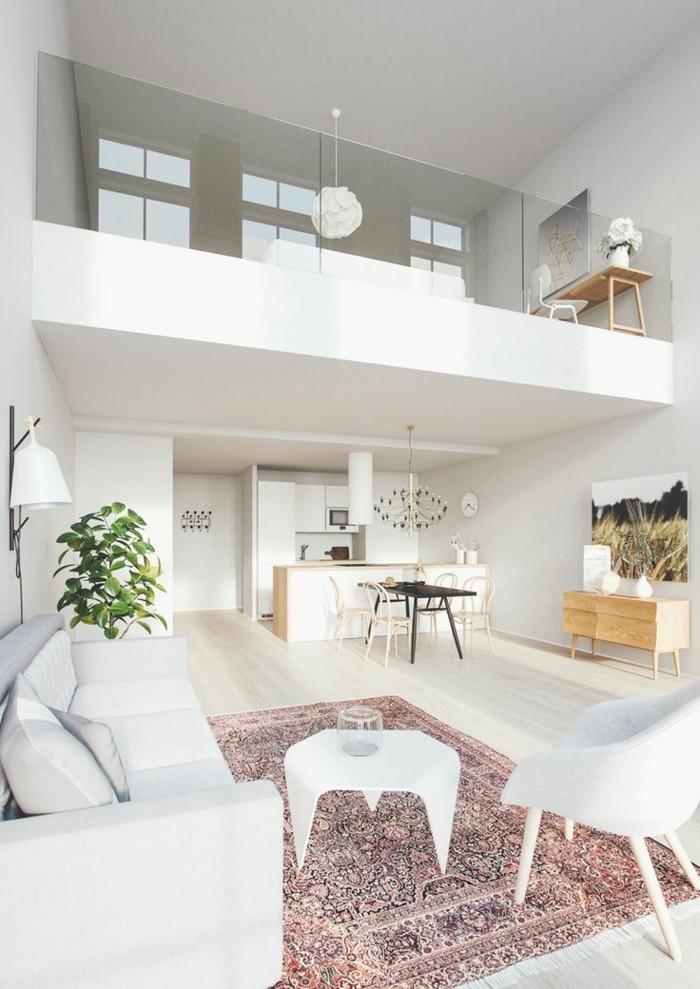 1-salon-moderne-blanc-d-esprit-loft-meuble-style-industriel-pas-cher-pour-loft-et-associé-tapis-coloré