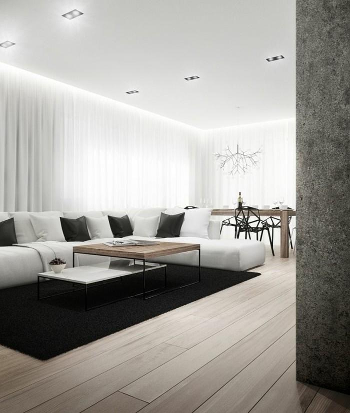 Idee deco salon moderne zen pr l vement d - Idee deco salon moderne ...
