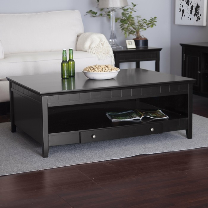 table basse moderne avec rangement. Black Bedroom Furniture Sets. Home Design Ideas