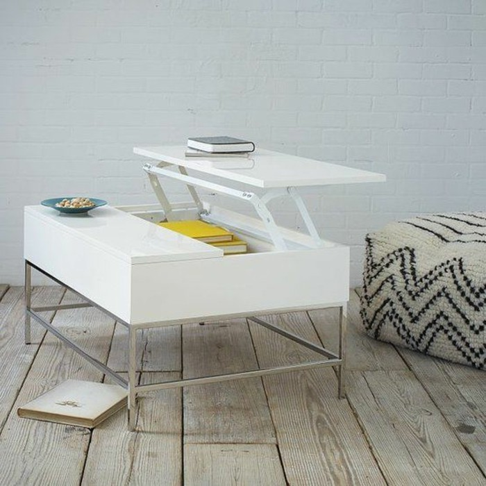 Table ronde alinea blanche - Table basse blanche ronde ...