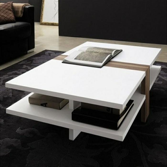 1-table-salon-rangement-en-bois-blanc-tapis-noir-table-basse-carre-table-basse-wengé
