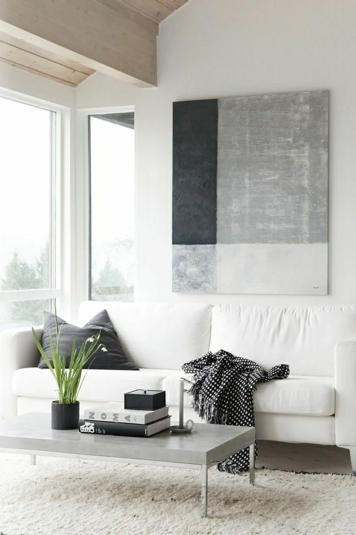 40 id es en photos comment incorporer l 39 ambiance zen - Black and white and grey living room ...