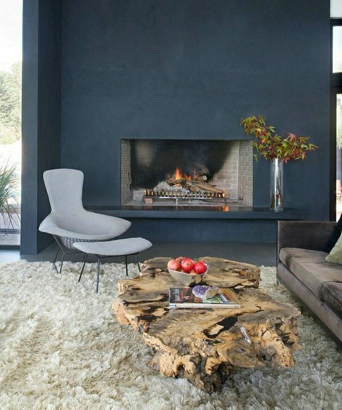 Chambre bleu fonce et beige ~ Design de maison