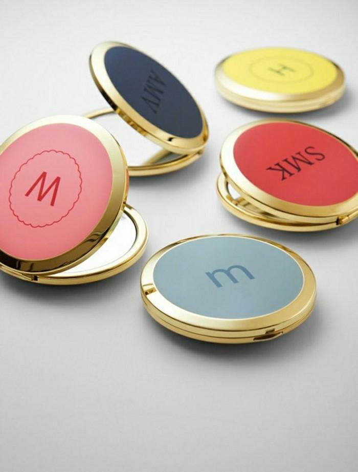 2-miroir-de-poche-personnalisé-de-couleur-jaune-et-rouge-miroir-design-original
