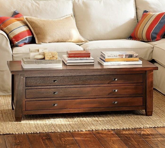 Table basse avec rangement alinea - Table basse relevable avec rangement ...