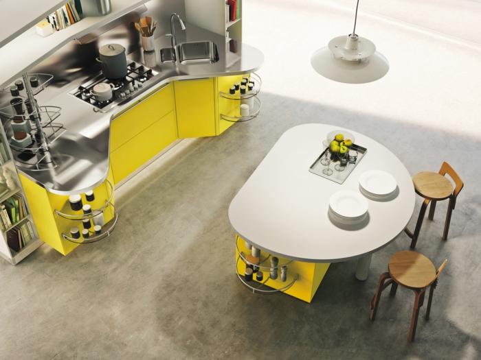 3-cuisine-arrondie-cuisines-darty-de-couleur-jaune-comment-choisir-le-disgn-de-votre-cuisine