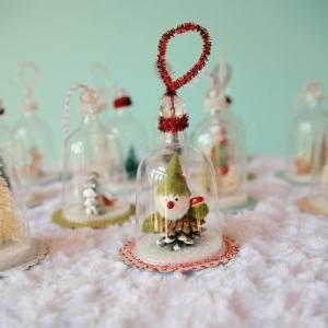 La cloche en verre - mille et une idées pour la décoration de Noël!