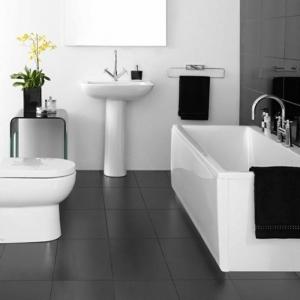 Aujourd'hui on a décidé de vous présenter la salle de bain noir et blanc! Voyez les dernières tendances en photos!