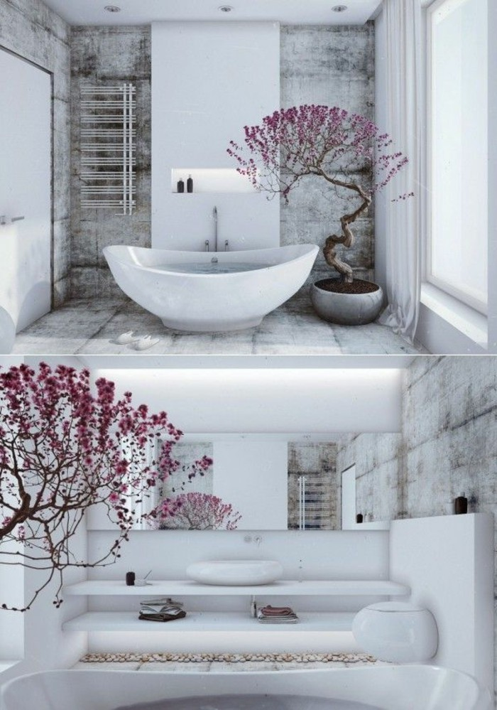 Salons interieur and design on pinterest for Deco salle de bain zen