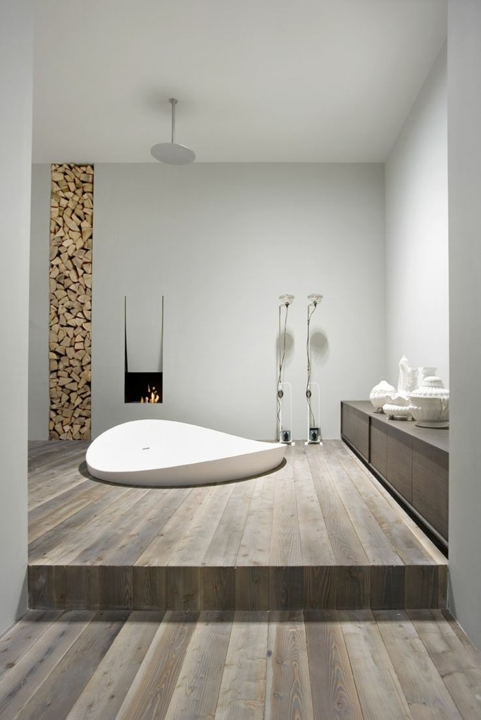 40 id es en photos comment incorporer l 39 ambiance zen for Salle de bain style loft