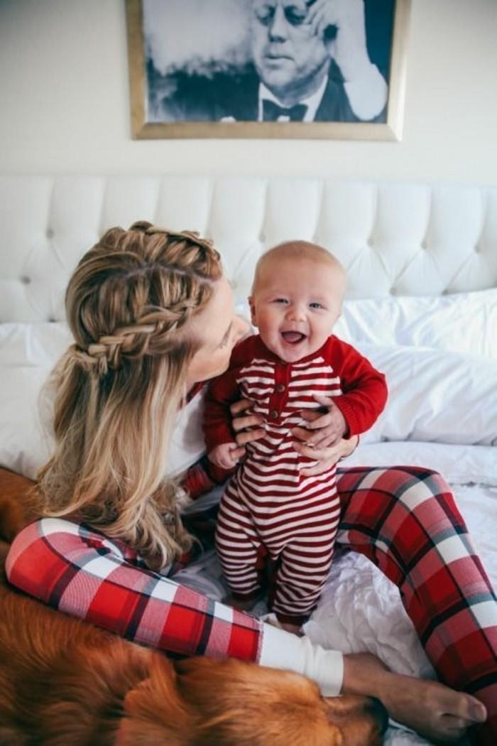 Beau-pyjama-combinaison-pyjama-bebe-body-bébé-et-maman