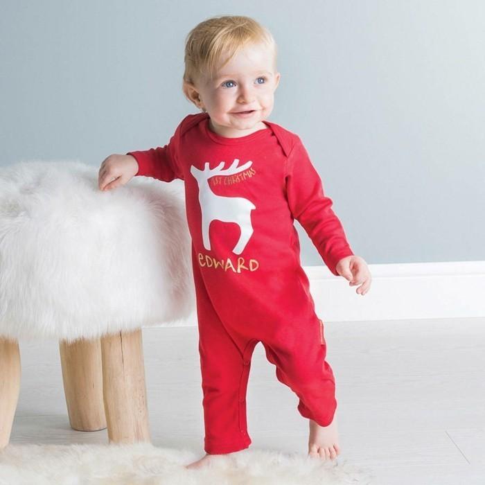 Beau-pyjama-combinaison-pyjama-bebe-body-bébé-rouge-edward