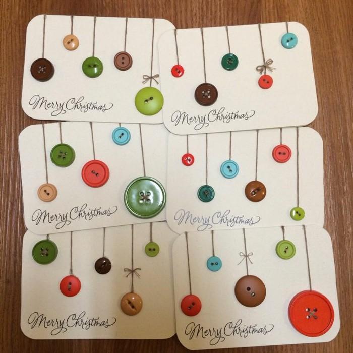 Belle-carte-joyeux-noël-festive-diy-idée-avec-boutons-colorés